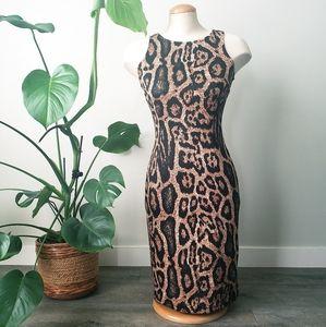 SUZY SHIER | Leopard Print Mini Dress Ladies Small
